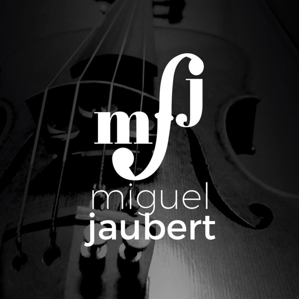 Diseño de Logotipo para Miguel Jaubert, Músico, Chelo. Tenerife, Islas Canarias, España