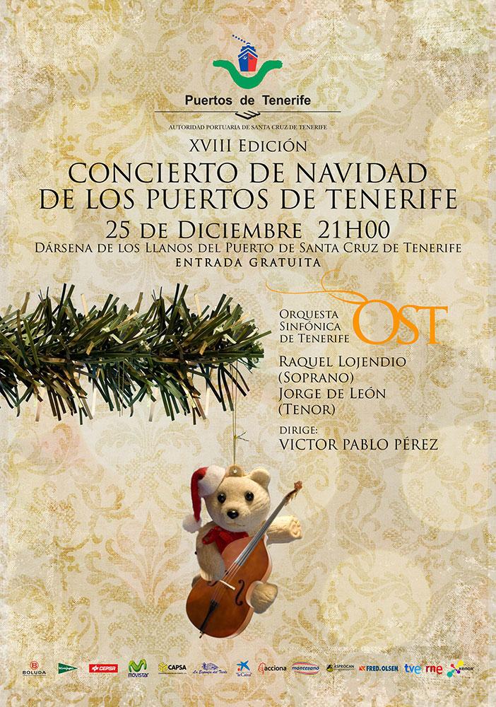 """Diseño de Cartelería y Post promocionales para el Concierto de Navidad """"Puertos de Tenerife"""" con la Sinfónica de Tenerife año 2011 Cliente: Xenox Producciones"""